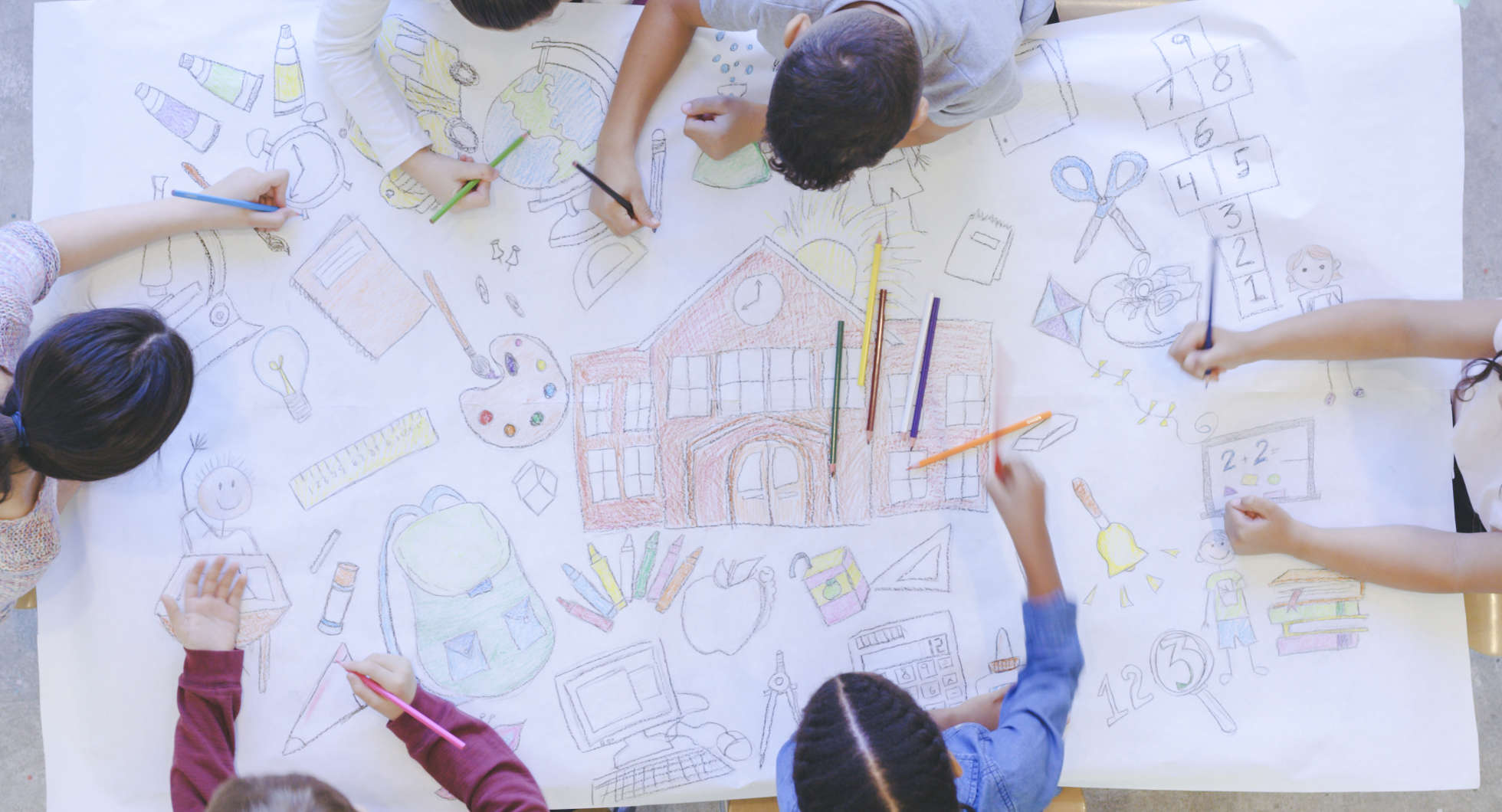 Primary school children color